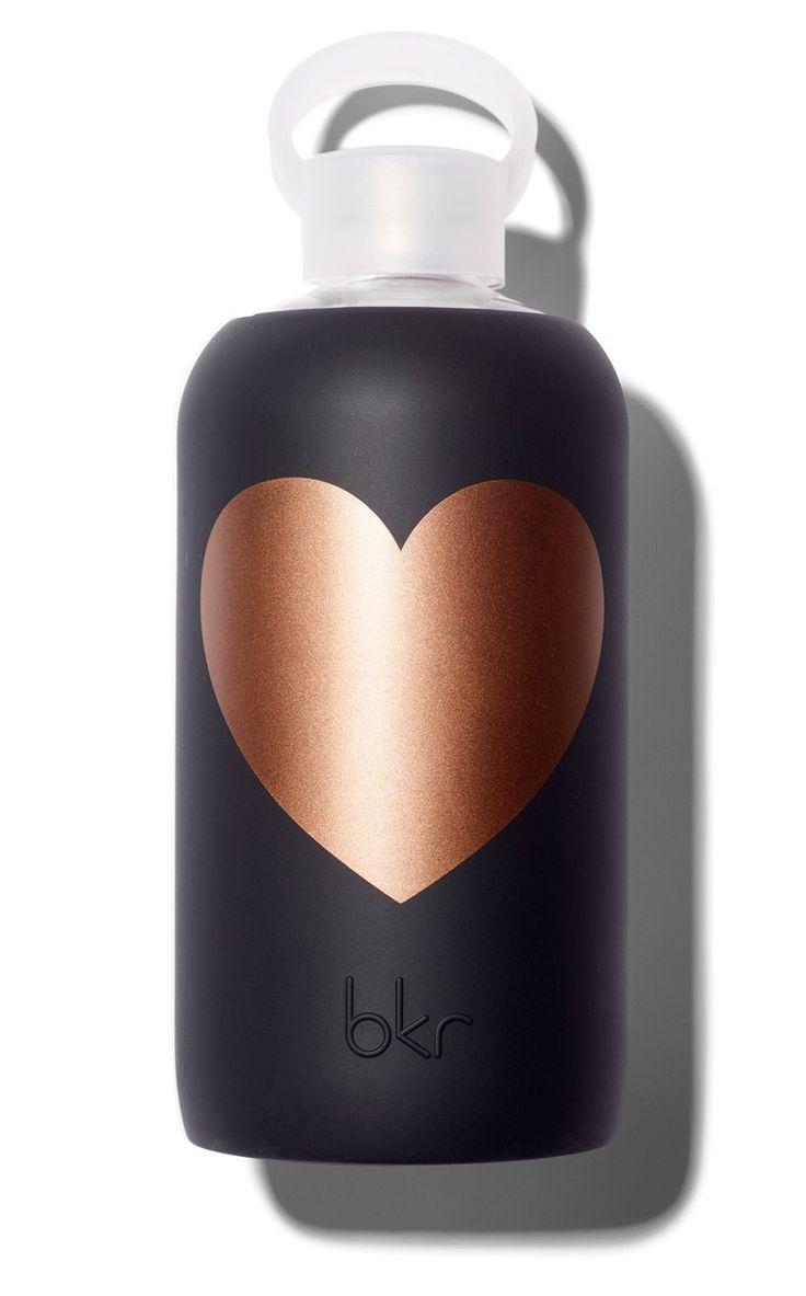 bkr Copper Jet Heart 1L Glass Water Bottle