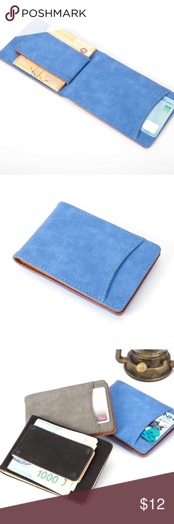 "Slim Wallet Money Clip Unisex Features: Casual, Travel style, for men and women Bullet Points: dull polish  Condition: Brand new, casual style, portable  Material: dull polish leather  Style: ID CARD Wallet  Size: 4.5"" x 3"" Bags Wallets"