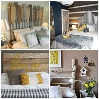 a collection of #repurposed and #recycled #headboards.