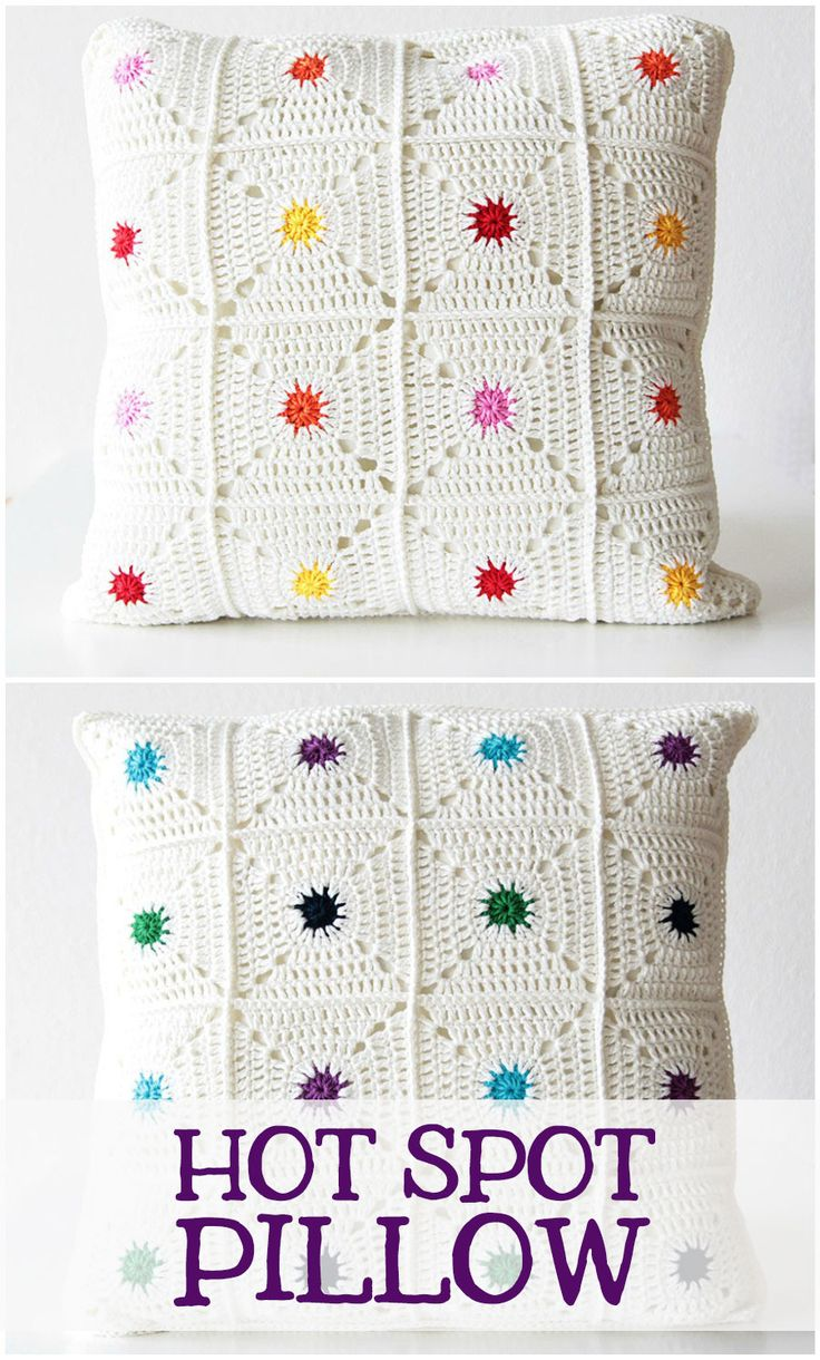 New pattern: Hot spot pillow!