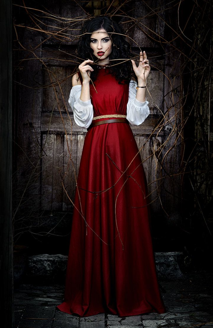 "by Tomasz ""skinny500"" Pluszczyk Snow white in a vision of red, fear encompassing her in the shadows of her imprisonment"