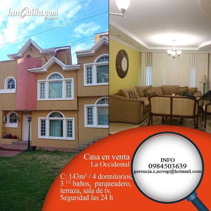 CASA EN VENTA en el Norte de Quito, en conjunto privado. Construcción 143m2 - 4 dormitorios - 3 1/2 baños - terraza - sala de TV - bodega - cocina con hormo empotrado - parqueadero. Seguridad las 24 h. MAS INFORMACIÓN: 0984503639/ gerencia.c.novap@hotmail.com