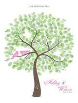Ein Gästebuch mit Fingerabdruck-Baum