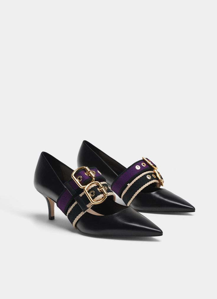 Uterqüe United Kingdom Product Page - Footwear - View all - Leather court shoes with removable straps - 99