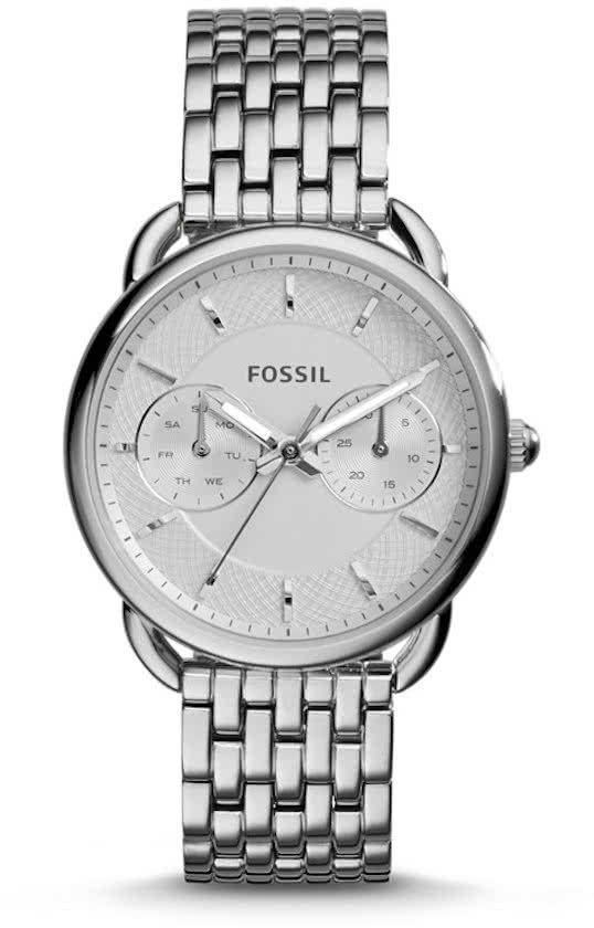 Fossil Tailor ES3712 - Horloge - 35 mm - Staal - Zilverkleurig