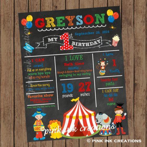 CIRCUS-Chalkboard-Birthday-Sign-Circus-First-Birthday-Stats-Sign-Printable