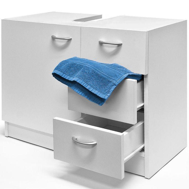 details about bathroom storage cabinet under sink vanity unit cupboard drawers doors handles