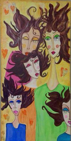 Reflections of Five Acrylic/mixed media