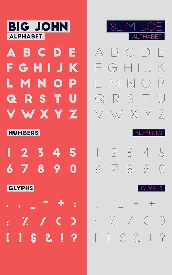 Big John / Slim Joe - FREE Font on Behance