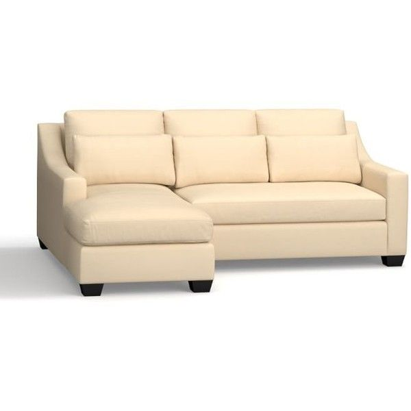york slope arm upholstered deep seat right chaise sofa sectional down blend wrapped cushions washed linencotton silver taupe