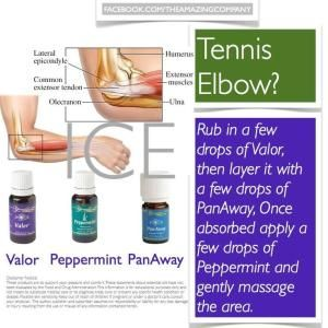 Young Living PanAway, Peppermint, Valor Essential Oils Tennis Elbow by MyohoDane