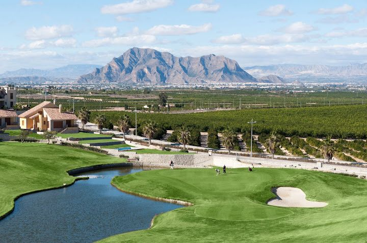 This is La Finca Golf Course in Algorfa Alicante! Perfect all year round weather and only 2 1/2 hours from the UK! Check out or golf offers www.solgolfvacations.com