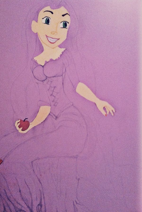 Rapunzel Wall Mural (Unfinished)