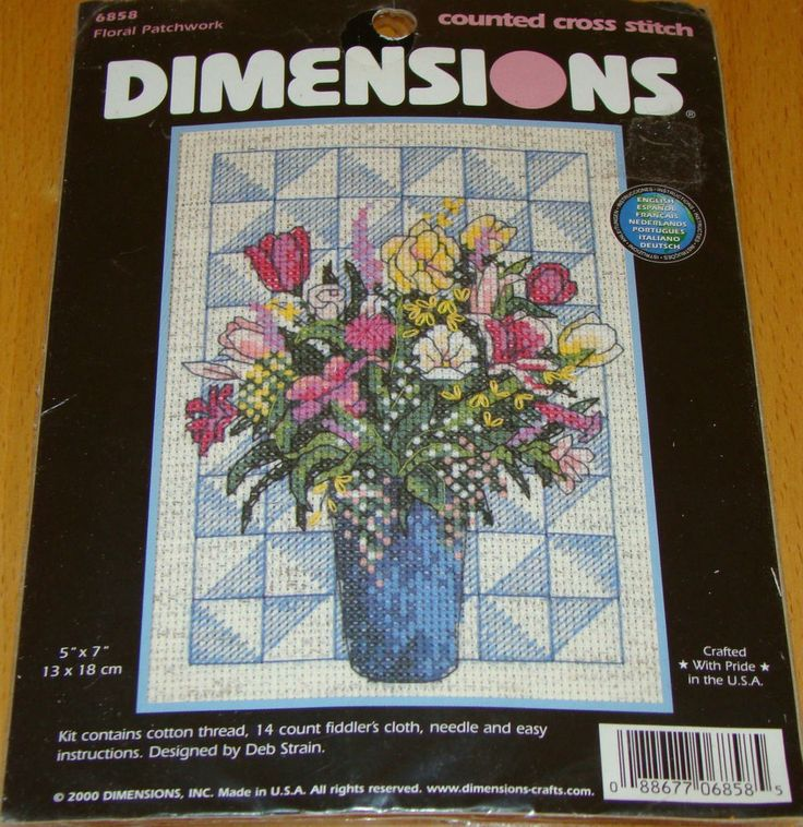 Cross Stitch Kit #6858 RARE. Floral Patchwork - Dimensions Counted. This is a great item to add to your cross stitch collection. This kit is RARE and hard to find. Kit contains: cotton threads, needle, 14 count fiddler's cloth. | eBay!