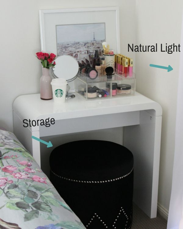 Diy Makeup Vanity House Small Space Diy Diy Makeup Vanity