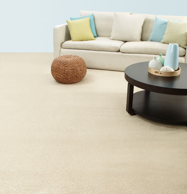 Cool, beachy tones are complemented with a soft, durable Redbook carpet.