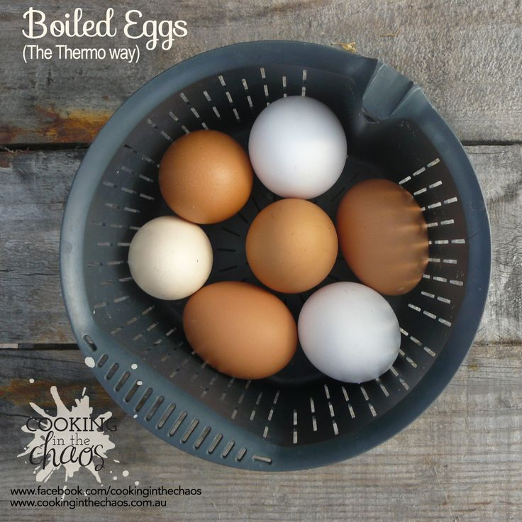 Boiled Eggs the Thermo Way - Thermomix