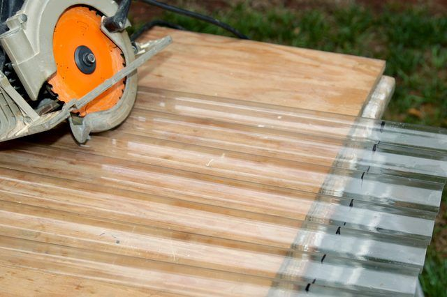 How to Cut Corrugated Plastic Roofing (with Pictures) | eHow