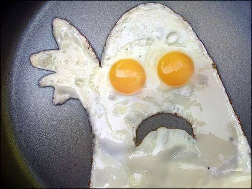 Halloween-Food idea-Ghost eggs