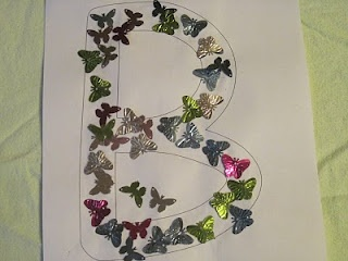 B is for Bountiful Beautiful Butterflies - Maybe get a paper punch?