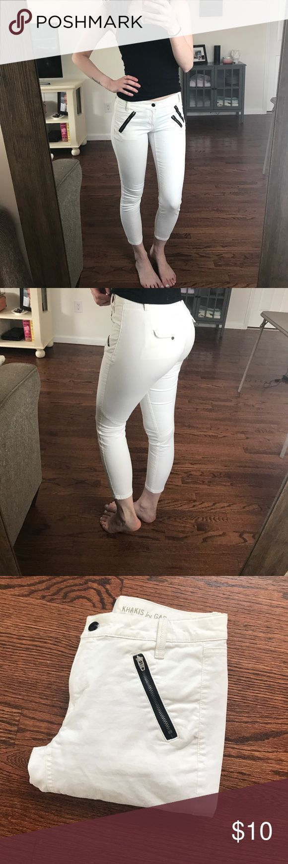 White cropped pants White cropped pants GAP Pants Ankle & Cropped