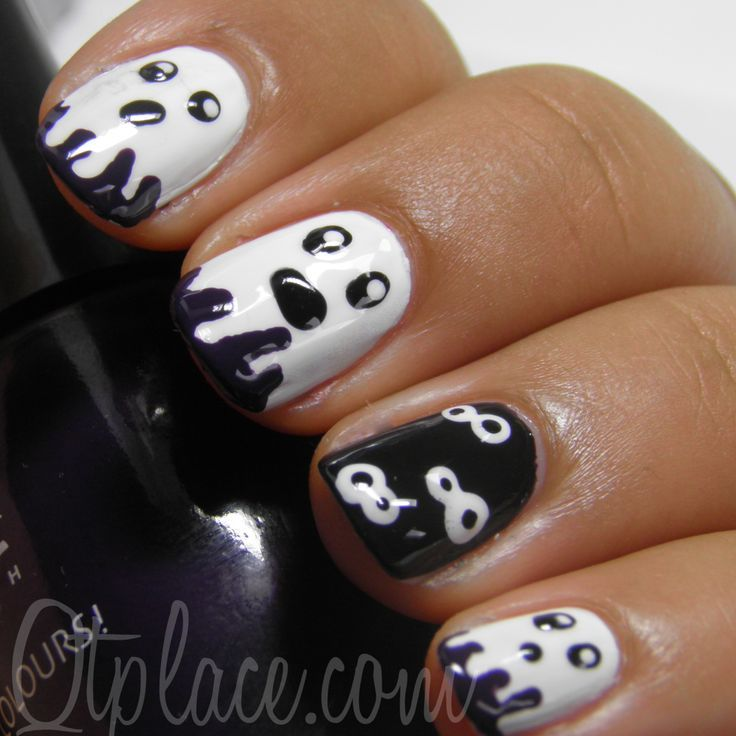 I am showing before you Halloween inspired ghost nail art designs, ideas,  and trends of - 47 Best Halloween Ghost Nail Art Images On Pinterest Halloween
