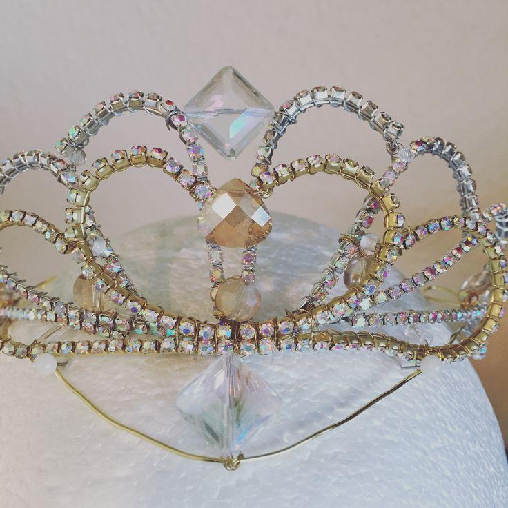 White and gold tiara
