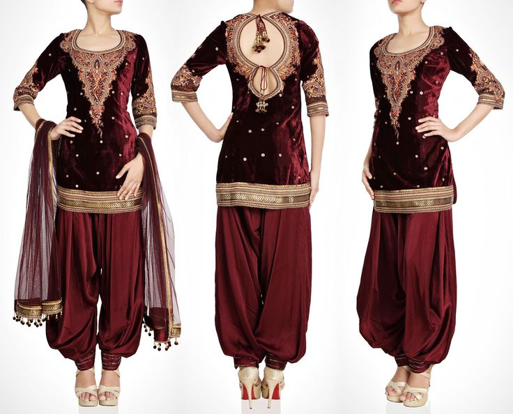 Blood Maroon Velvet Salwar kameez http://panachehautecouture.co.in/products/blood-maroon-velvet-salwar-kameez