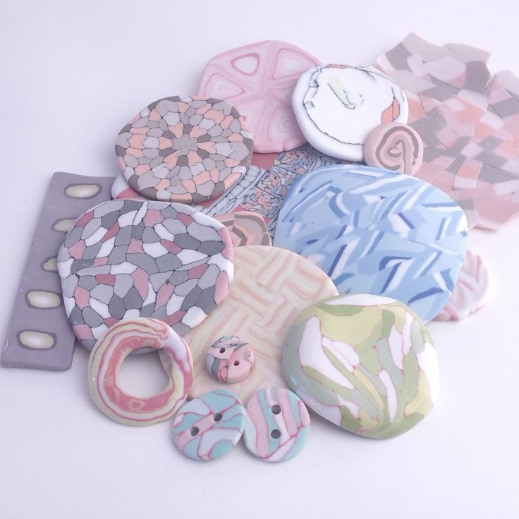 create your own unique, delicate Nerikomi buttons or brooches