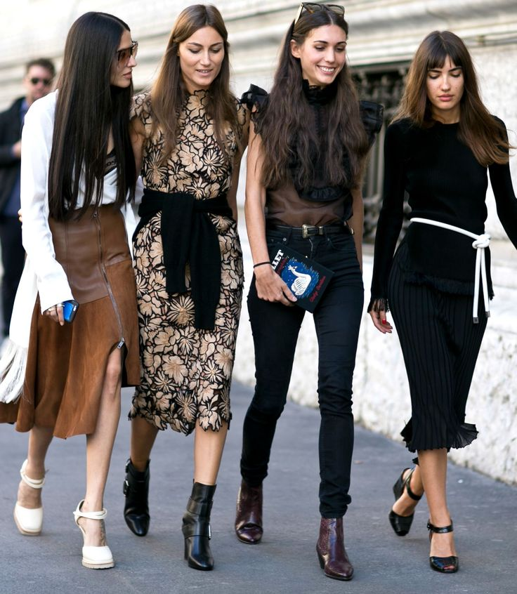 Milan Street Style Fall 2015 - Fashion Week #SquadGoals