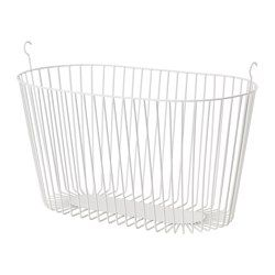 SPRUTT Basket, white - IKEA - $4.99 Need some of these.