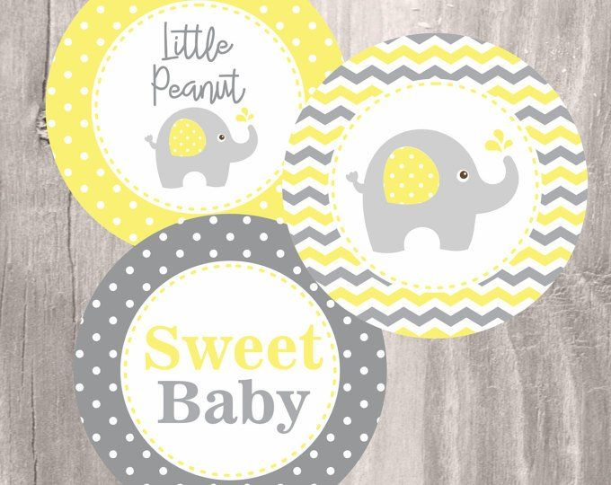 Elephant Baby Shower Printable Centerpieces Instant Download