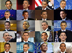 "The Age of Obama: Timelapse of President Barack Obama over four years in office - Time roughs up presidents. ""You look at the picture when they're inaugurated and four years later, they're visibly older,"" said Connie Mariano, White House physician from 1992 to 2001. ""It's like they went in a time machine and fast-forwarded eight years in the span of four years."" By Ned Martel, May-Ying Lam, Grace Koerber and Kat Downs"