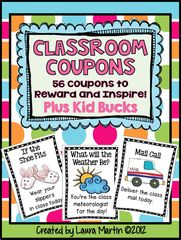 Reward Coupons Giveaway! Enter for your chance to win 1 of 2. Reward Coupons  (112 pages) from PeaceLoveandFirstGrade on TeachersNotebook.com (Ends on on 07-31-2015) Enter to win one of two Reward Coupons packs! Easy and effective Behavior Management!! .
