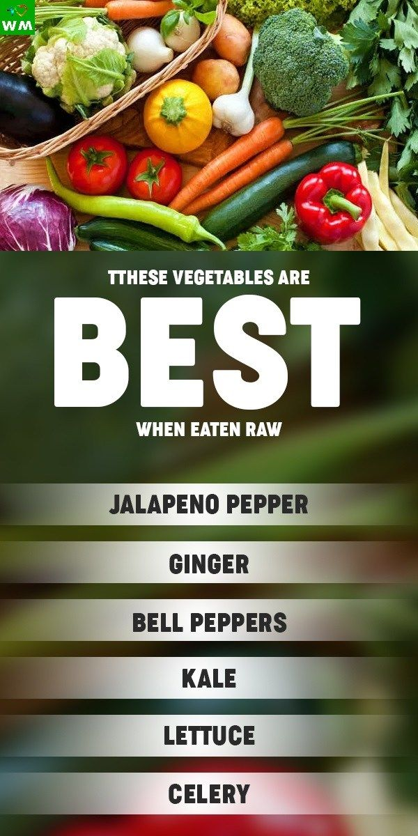 best vegetables to eat raw