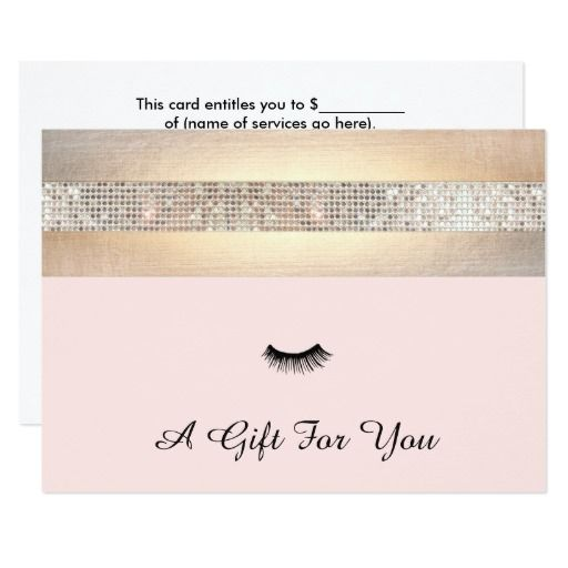 26 best give the gift of art images on pinterest for Eyelash extension gift certificate template