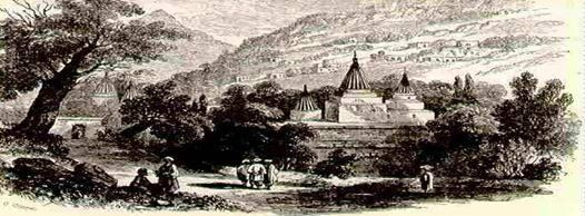 Yazidi Temple back in the day. Kurdistan