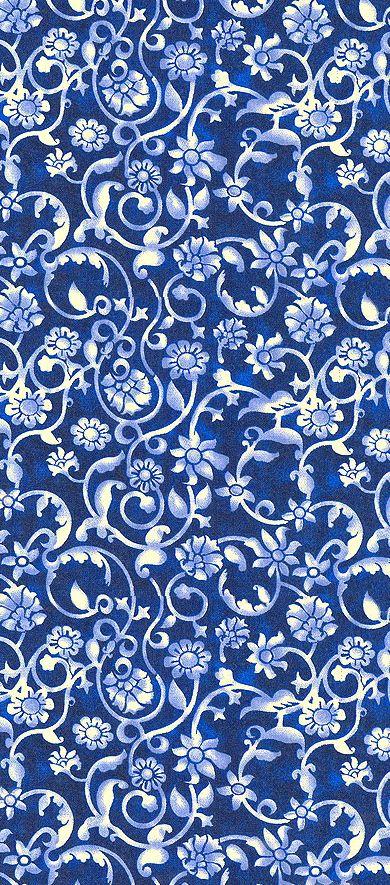 blue & white wallpaper
