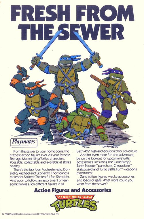 Teenage Mutant Ninja Turtles action figure advertisement