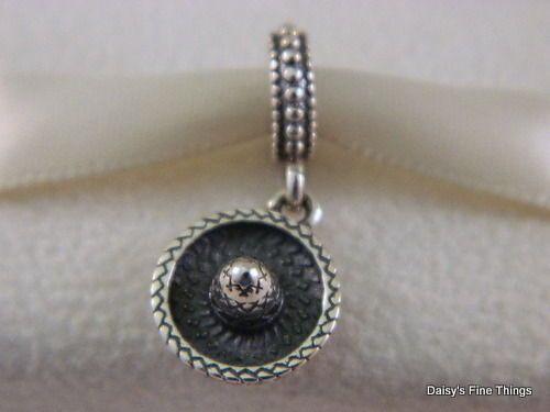 New   Authentic Pandora Charm Sombrero  791364  Retired  P
