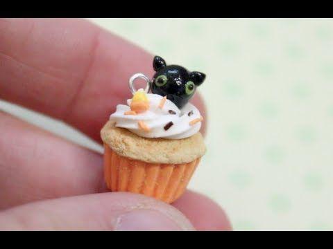 Clay Cat Cupcake Charm Tutorial!