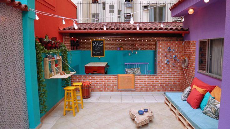 Thalita Carvalho ajudou os moradores à mudar o visual do espaço, que vai ser estreado com um chá da tarde das amigas