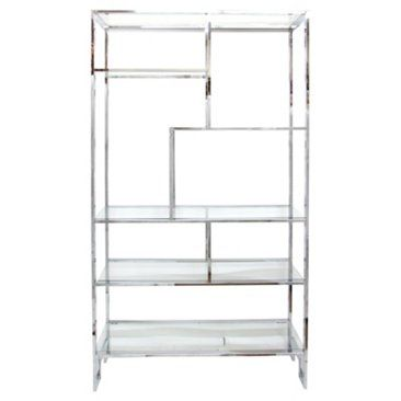 Check out this item at One Kings Lane! Chrome Étagère by Milo Baughman