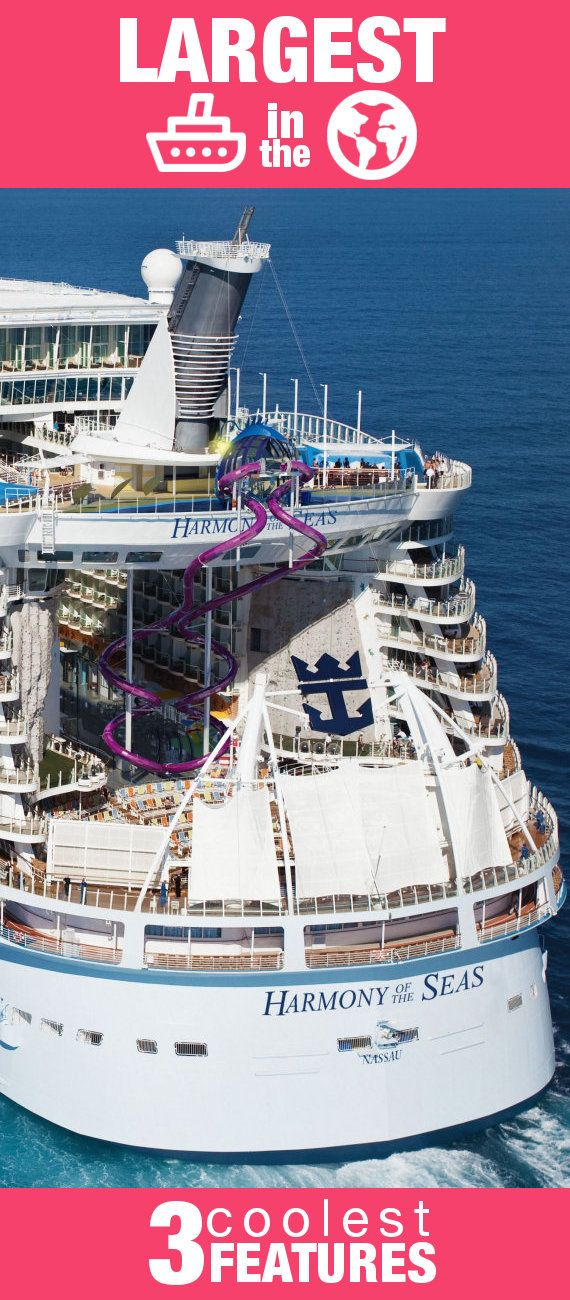 Largest Cruise Ship in the World - here's the 3 Coolest Features. Would you do #1?! See full post here: http://blog.shipmateapp.com/largest-cruise-ship-in-the-world-harmony-of-the-seas/