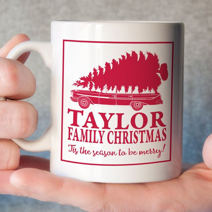 Personalized Christmas Mug - Christmas Vacation. Our ceramic coffee mugs are made using a high quality sublimation process that adheres specialty inks to our mugs, leaving a permanent image on your mug! The images will not rub, peel, or scratch off like vinyl or markers. They are dishwasher and microwave safe. All of our mugs are packaged securely for safe shipping. Choose either an 11 oz or 15 oz mug at checkout. Images are printed on both sides of the mug. All of our mugs are made to...