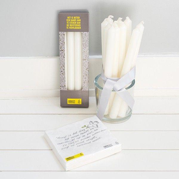 Luxe tafelkaarsen donkergrijs   set van 4 - Kaarsen - products