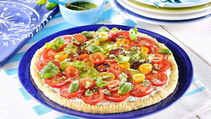 Frasig tomatpaj med ost