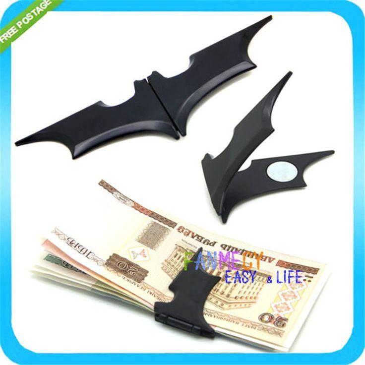 Матовый Черный Бэтмен Зажим Для Денег Складные Магнитные Карты Металлический Держатель Кошелек Рождественский Подарок