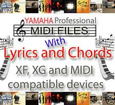 YAMAHA XG XF CHORDS & LYRICS 8,000 MIDI BACKING TRACKS / SONGS