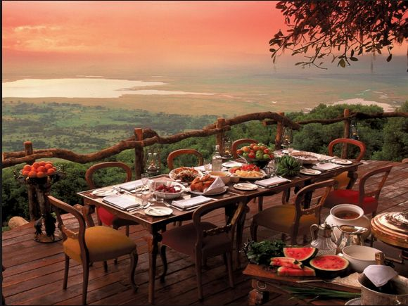 The Ngorongoro Crater Lodge is located in Tanzania on the edge of the world famous World Heritage Site of the Ngorongoro Crater. Surrounding the lodge, the Conservation Area stretches from the Rift Valley to the Serengeti.